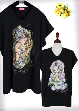117-20 Special PriceV-neck Tee/Black Tee브이넥 티셔츠/블랙